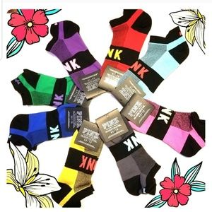 8 pairs of PINK Victoria's secret socks